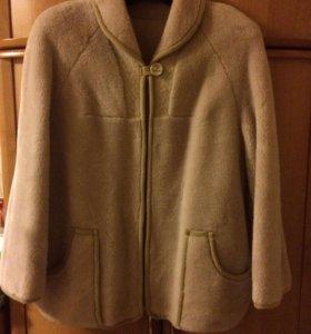 Куртка - пальто женская, мех меринос