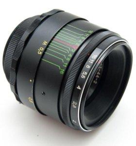 Гелиос 44-2 с переходником М42 для Nikon с линзой