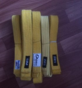 Пояса для дзюдо жёлтые
