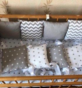 Бортики в кроватку НОВЫЕ.Низкие цены 💥💥💥
