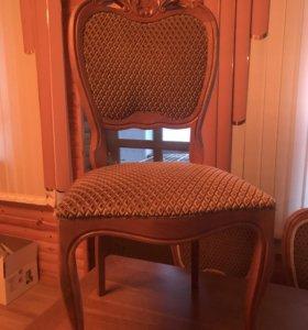 Стол +10 стульев из массива дуба в идеальном состо
