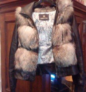 Натуральная кожаная куртка-желетка !