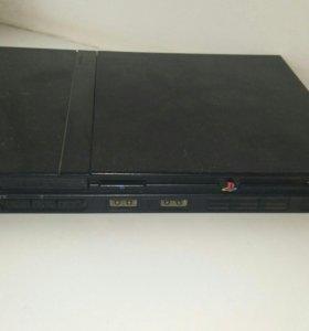 Приставка PlayStation 2 +2 игровых джостика