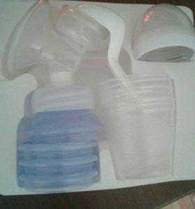 Молокоотсос ручной с универсальными контейнерами