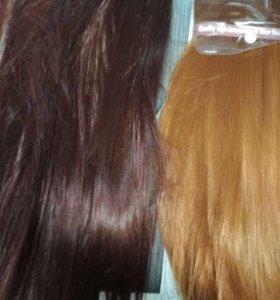Трессы, волосы Натуральные и искусственные термо