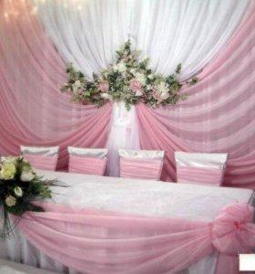 оформление свадьбы,юбилея,выпускного бала.