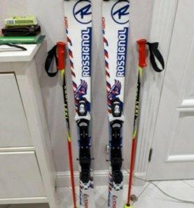 Горные лыжи Rossignol 120см с креплениями