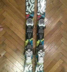 Горные лыжи К2 112см, 124 и 135см