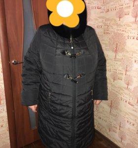 Зимняя куртка 60-62р