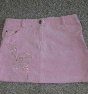 Вельветовая мини юбка.