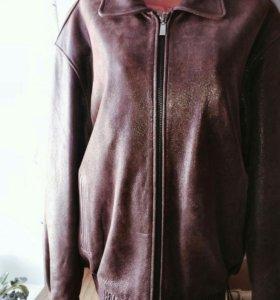 Мужская куртка из натуральной кожи р.52