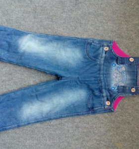 Комбинезон джинсовый, утепленный