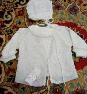 Кофточка для новорожденной