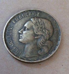 Монета Франция 1953