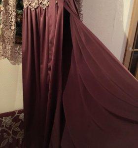 Платье ручной работы с запахом