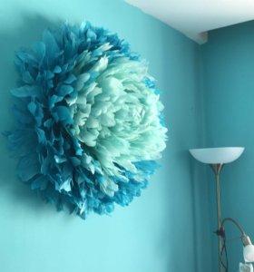 Цветок на стену