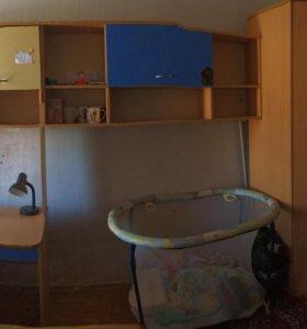 Стенка комнатная со шкафом компьютерным столом