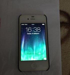 iPhone 4s белый.оригинал.документы.чехлы. 4000 руб