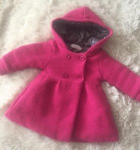 Пальто для девочки+шапочка