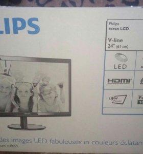 """Монитор 24"""" Philips 246V5lhab, новый"""