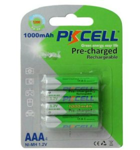 Новые аккумуляторы ААА, 1000 MAh