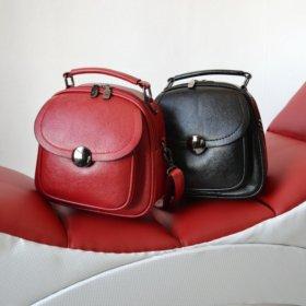 Рюкзак-трансформер женский красный и черный