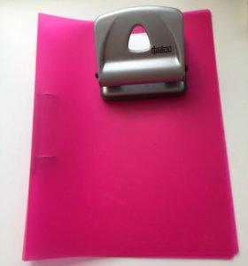 Комплект дырокол+папка