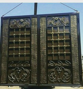 Кованые и простые ворота