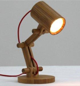 Настольные лампы из дерева