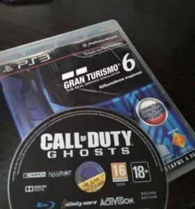 GranTurismo 6 + Call of Duty Ghost на PS 3