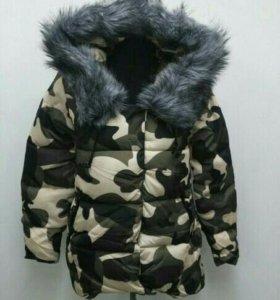 Куртка зимняя, зимний новый пуховик комуфляж