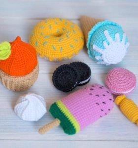 Сладости вязаные игрушки ручной работы