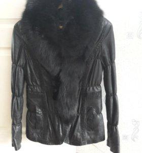 Кожанная куртка, подклад(кролик)