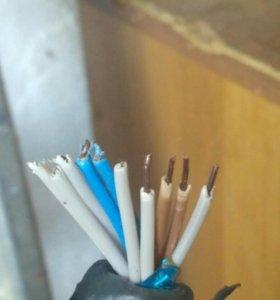 Медный дясятифазный кабель