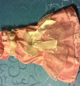 Платье розовое для животных