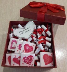 """Подарок """"100 причин моей любви к тебе..."""""""