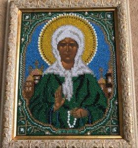 Икона Святой Матроны Московской. Ручная работа