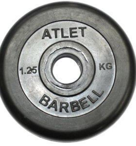 Диск обрезиненный чер. MB atlet d-26 1,25кг в Орле