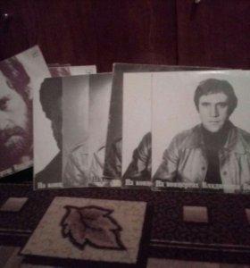 Коллекция пластинок Высоцкого