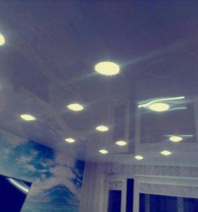 Качественный монтаж натяжных потолков
