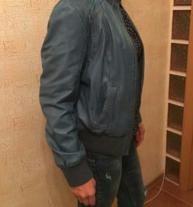Куртка натуральная кожа(под джинсу).