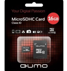 Новая, в упаковке карта памяти QUMO 16 Gb
