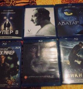 Фильмы Blu-Rey disc. 6 блюрей дисков.