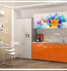 Кухня мдф с фотопечатью Фантазия 1,6м