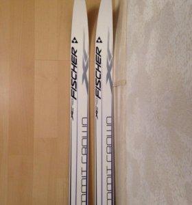 Беговые лыжи Fisher (197см) идеальное состояние