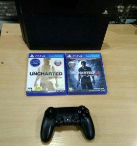 Playstation 4 в отличном состоянии с 3 играми