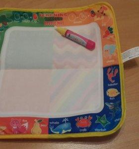 Коврик для рисования, маркер, раскраска