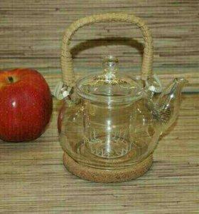 Новый чайник заварочный из жаропрочного стекла