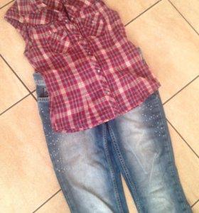 Рубашка и джинсы Zara