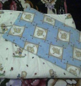 Детское одеяло и подушечка